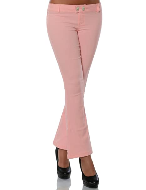 modernes Design groß auswahl online Damen Boot-Cut Hose Stoffhose DA 15684: Amazon.de: Bekleidung