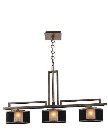 Amazon.com: kalco 6716 VB Stanley 3-Light – Lámpara de techo ...