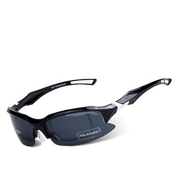 CDSS Hombre mujer Luz polarizada Gafas de sol deportivas HD Protección para los ojos Protección contra