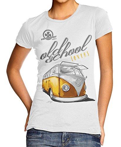 VW T-Shirt Bulli T1 Oldtimer Classic weiß (S)