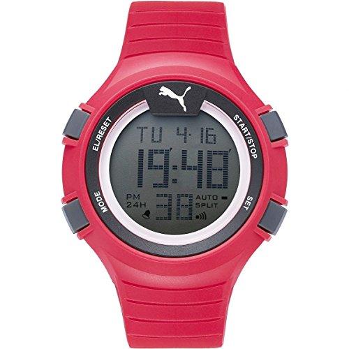 PUMA Unisex PU911281003 Faas 100 L red Digital Display Watch