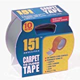 151 Double Sided Carpet to Floor Tape, White, 10 x 10 x 10 cm