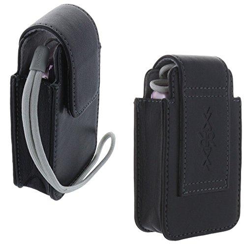 Echt-Leder Kamera-Tasche für Digitalkamera - Größe bis 99 x 59 x 26 mm - für z.B. Canon Ixus 175 180 - Powershot S120 S200 - Sony WX220 WX350