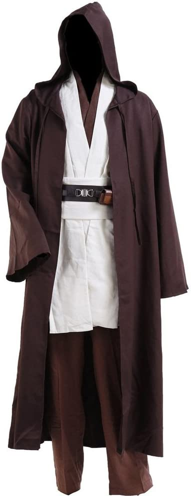 Fuman Star Wars Kenobi Jedi Tunic Cosplay Cosplay Disfraz para adultos Hombre S