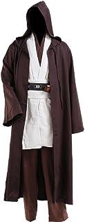 Cosplaysky Star Wars Jedi Robe Costume Obi-Wan Kenobi Halloween Outfit  sc 1 st  Amazon.com & Amazon.com: Star Wars The Force Awakens Adult Rey Costume: Clothing
