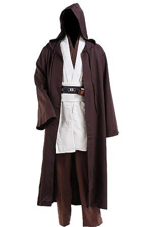 cosplaysky star wars jedi robe costume obi wan kenobi halloween outfit xx small
