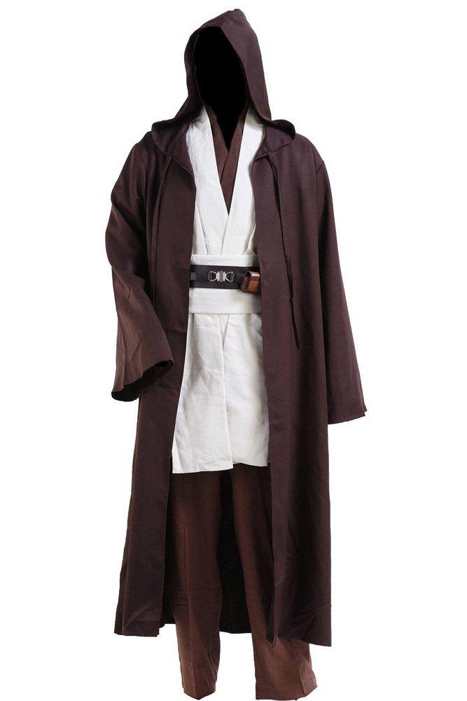 Fuman Star Wars Kostüme Obi Wan Kenobi Kostüm Jedi Kostüme für Erwachsene Herren L