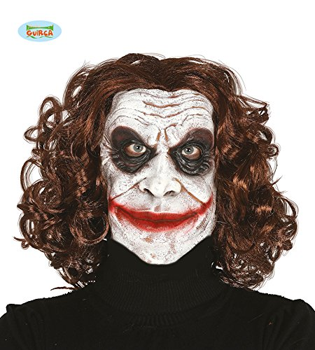 Latex Jester (Guirca Halloween Batman Jester Joker Style Latex Mask With Hair)