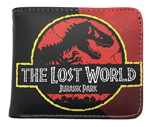 Jurassic World PU Leather Character Bifold Wallet (One Size, Red) (World Best Wallet Brand)