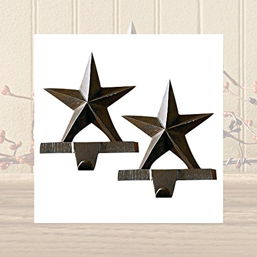 Iron Star Stocking Hanger - Set of 2