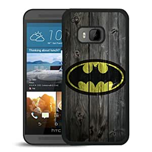 Fashionable Custom Designed Cover Case For HTC ONE M9 With Batman logo Black Phone Case