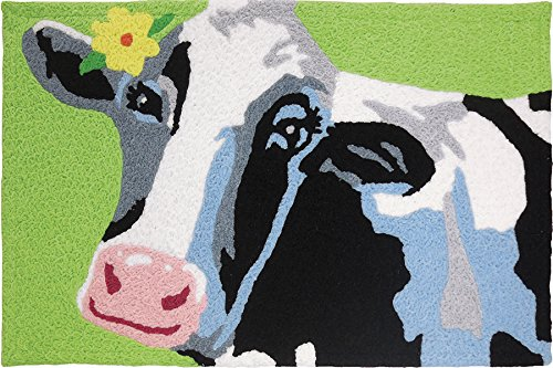 Jellybean Elsie The Cow Accent Rug