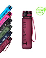 Funny Tree® Trinkflasche aus Tritan. BPA frei und auslaufsicher! 500ml / 600ml / 1000ml / 1500ml. Ideal beim Sport oder auf Reisen. Auch bestens für Kinder geeignet.