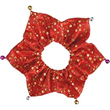 Bling Pet Holiday Accessories Dog Christmas Collar With Bells, Large Red