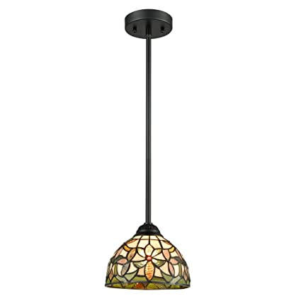Amazon Com Eul Tiffany Style Mini Pendant Light Art Stained
