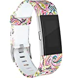 RedTaro Replacement Bands for Fitbit Charge 2 Paisley Design Large