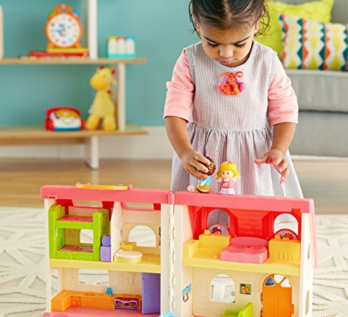 51GDawandcL - Fisher-Price Little People Surprise & Sounds Home Playset