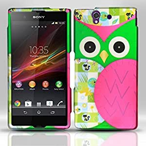 For Sony Xperia Z Rubberized Design Cover Case - Owl