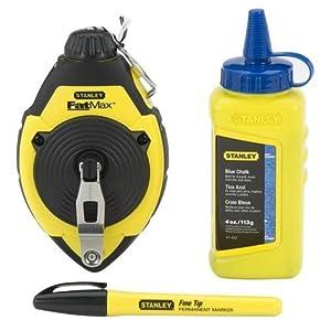 Stanley Fatmax Xtreme 47-681L Chalk Line Reel & Chalk Set