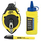 6 Pack Stanley 47-681 30m/100' FatMax Chalk Line Reel and Chalk Set