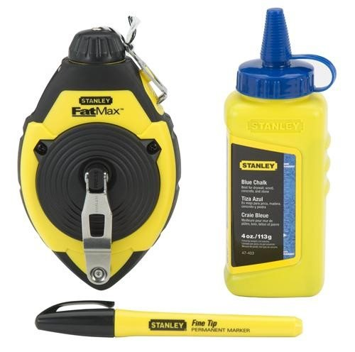 Stanley Fatmax Xtreme 47-681L Chalk Line Reel & Chalk -