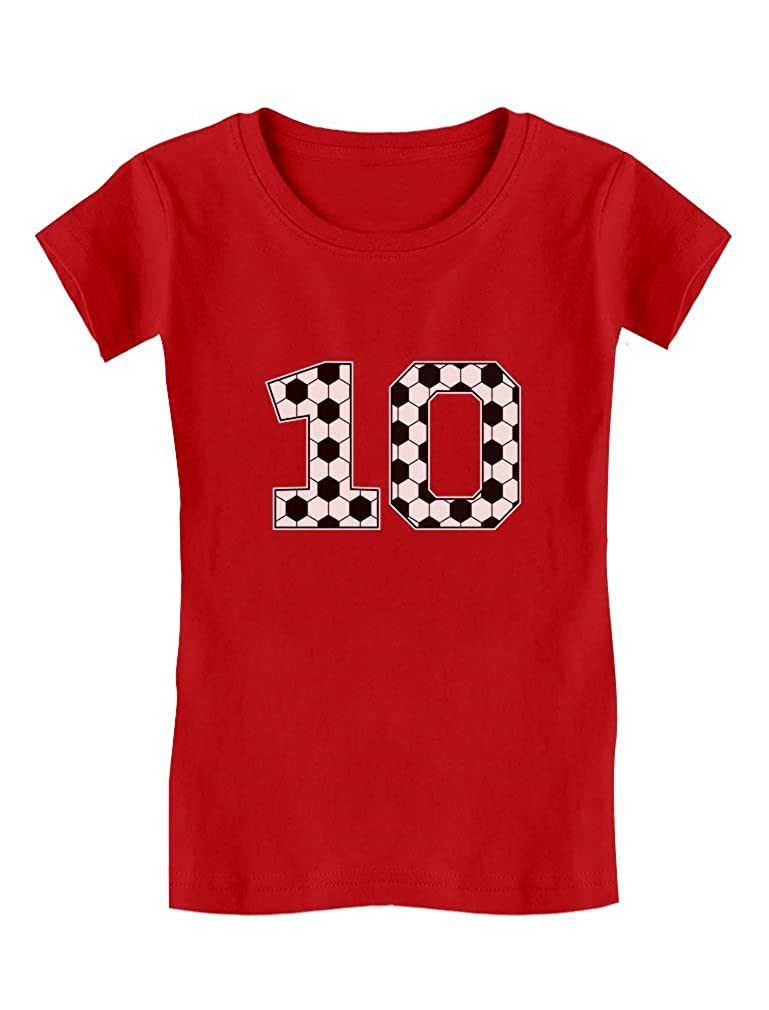Amazon Soccer Fan 10th Birthday Gift For 10 Year Old Girls Fitted Kids T Shirt Clothing
