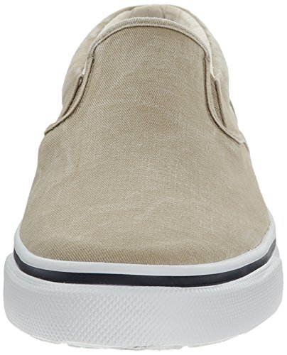 Basses Top Homme Baskets Peau Navy Striper Sperry on Sider Slip CU0wATfqx