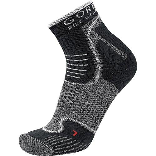 GORE BIKE WEAR Mountainbike-Socken, Robust, GORE Selected Fabrics, ALP-X Socks, Größe 44-46, Schwarz/Weiß, FEALPM