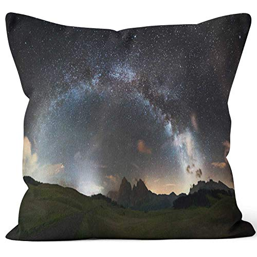 Nine City Arc of The Milky Way Panorama XXL Sack Burlap Pillow,HD Printing Square Pillow case - Way Panorama Milky