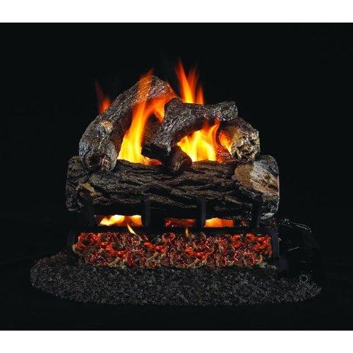 Peterson Real Fyre 12-inch Golden Oak Designer Plus Gas Log Set With Vented Natural Gas G4 Burner - Manual Safety Pilot