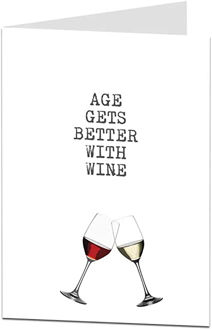 Funny Happy Birthday Card Age Wine Drinker Alcohol Theme For Him Her Mum Dad Amazon Co Uk Office Products