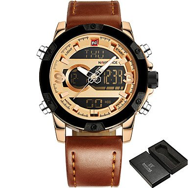 Amazon.com : Fashion Watches NAVIFORCE Luxury Brand Men Sport Watches Mens Quartz Digital Clock Man Casual Military Waterproof Wrist Watch relogio ...