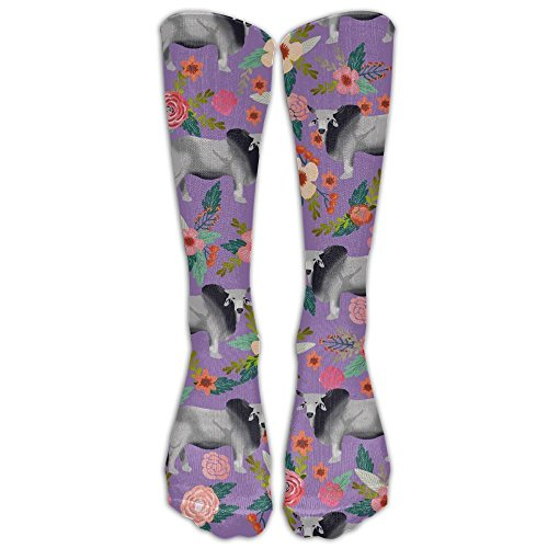 CHC40 Brahman Cow Floral Compression Socks For Men & Women,Graduated Athletic Socks Reduce Muscle Soreness,Best For -