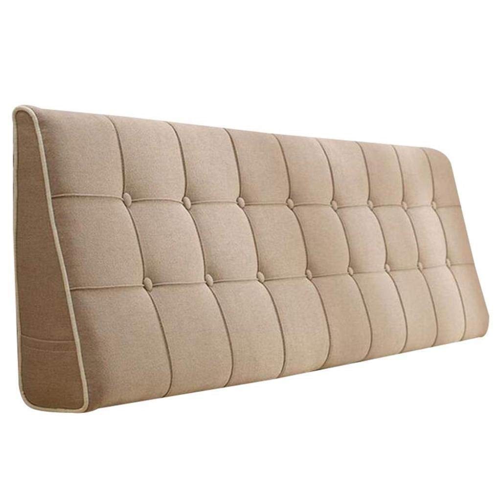 YJLGRYF Headboard Cushion Bed Soft Pack Pillows Waist Mats Bed Cushions Backrest Bed Cover with/Without Headboard 3 Colors Lumbar pad for Office Bed sof (Color : Camel No Headboard, Size : 90CM)