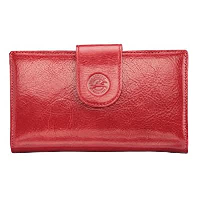 Equestrian Ladies' Clutch Wallet Color: Red