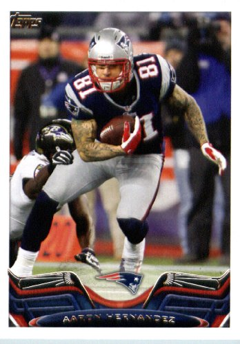 2013 Topps NFL Football Card IN SCREWDOWN CASE #373 Aaron Hernandez MINT