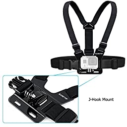 Sametop Adjustable Chest Mount Harness for Gopro Hero 5, 4, Session, 3+, 3, 2, 1 Cameras