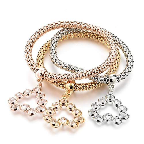 Better Annie Vintage Designer Austrian Rhinestones Gold Color Tree of Life Charm Bracelets Popcorn Chain Jewelry For Women,SBR160351GD