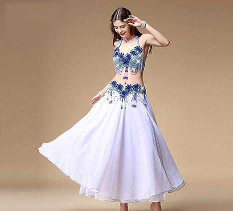 SMACO Belly Dance Bra Belt Falda Sexy Belly Dance Lujoso Bling con ...