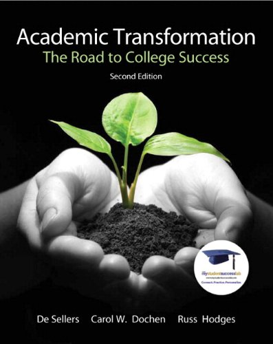 Academic Transformation: The Road to College Success Plus NEW MyStudentSuccessLab  Update -- Access Card Package (2nd Ed