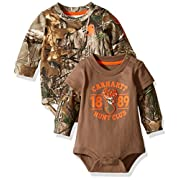 Carhartt Baby Boys' Long Sleeve Bodysuit, Realtree Xtra/Brown, 3 Months