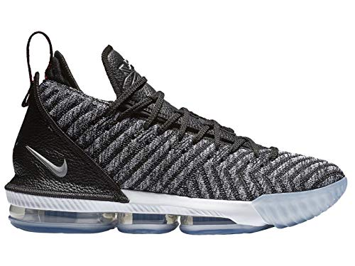 Nike Mens Lebron 16 Black/White/Grey Mesh Basketball Shoes 9 M US