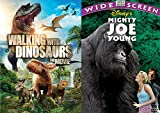 Mighty Dino Gorilla Family Adventure DVD Bundle Disney Mighty Joe Young & Walking with Dinosaurs Double Feature