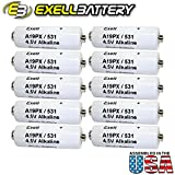 10pc Exell A19PX 4.5V Alkaline Battery V19PX 531 RPX19 A19PX EPX19