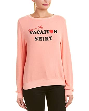 5d92522be9 Amazon.com: Wildfox Vacation Shirt Baggy Beach Jumper: Clothing