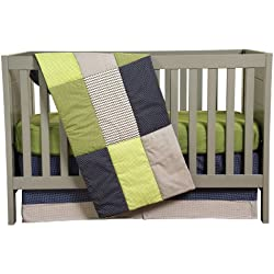 Trend Lab 3 Piece Crib Bedding Set, Perfectly Preppy Green
