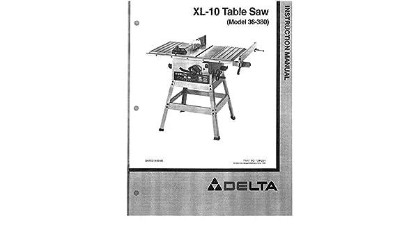 Delta 36 380 table saw wiring diagram wiring diagram delta 36 380 xl 10 table saw instruction manual amazon com books delta xl autoclave gasket delta 36 380 table saw wiring diagram keyboard keysfo Gallery