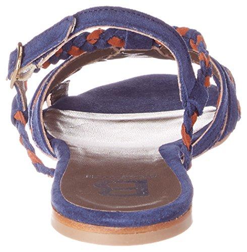Bensimon Tressee, Sandales Bout Ouvert Femme Bleu (Marine)