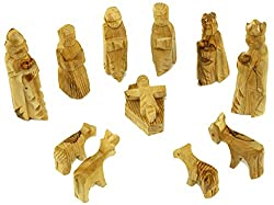 Holy Land Market Olive Wood Children's Nativity