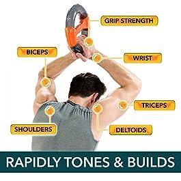 Powerball Powerspin Heimtrainer für Arme, Trizeps Schultern und Bauch